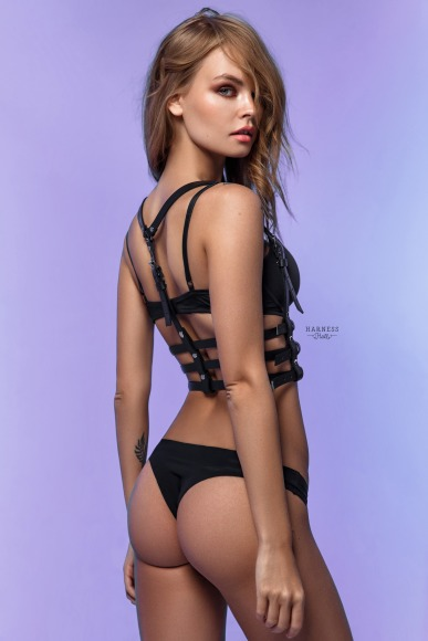 Classic harness with a triple strap. фото 2