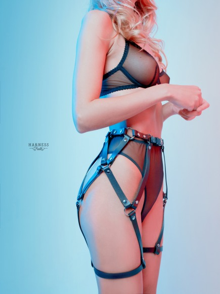 Legstraps with one wrap on the legs and belts on the thighs.   фото 2