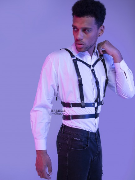 Men's classic belt on the chest. фото 3