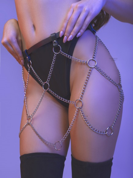 Belt-skirt with chain фото 4