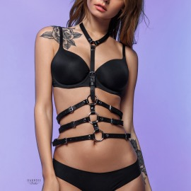 L-230  Classic harness with a triple strap under the bust.