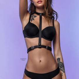 L-260 Classic harness with choker on the neck.