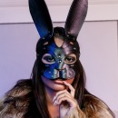 Bunny mask with beautiful nose. фото 1